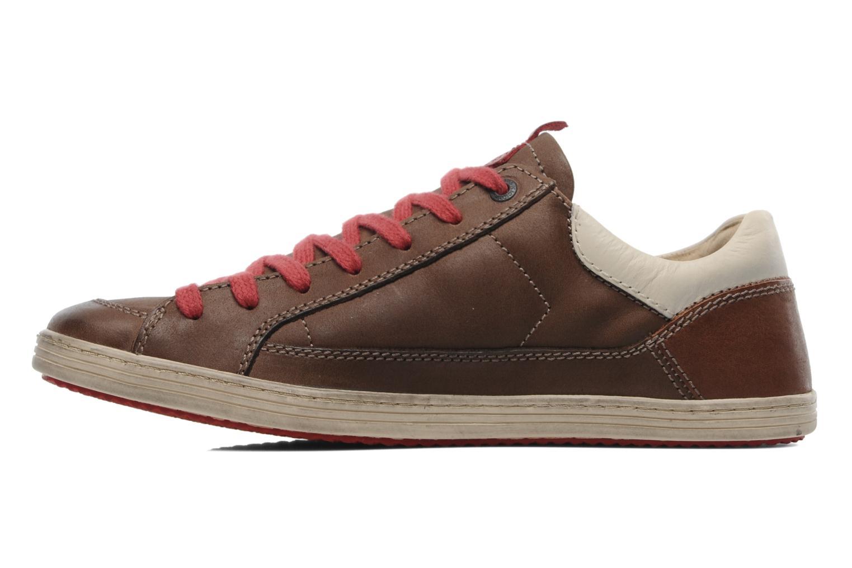 Sneakers Kickers Ambassy Bruin voorkant