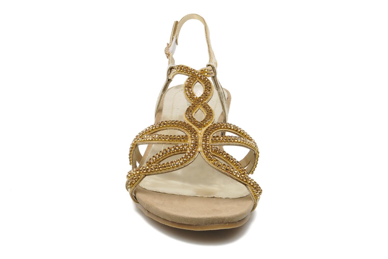 Sandales et nu-pieds Latinas Belina Or et bronze vue portées chaussures