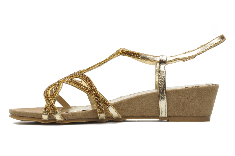 Sandales et nu-pieds Latinas Belina Or et bronze vue face