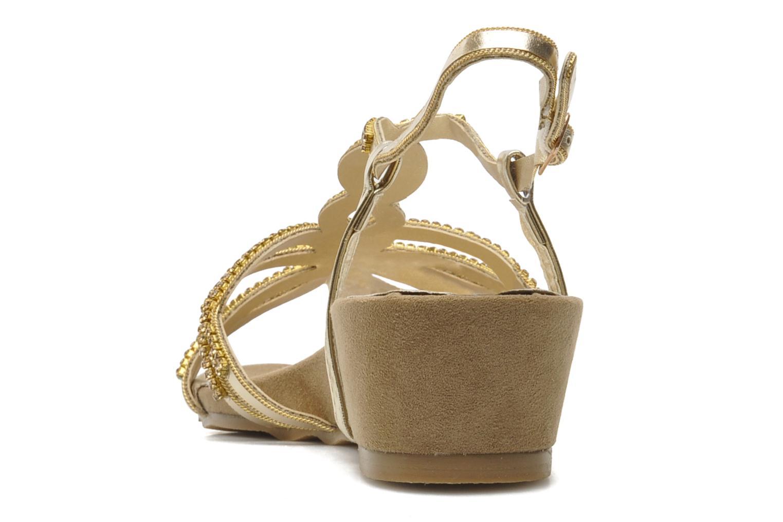 Sandales et nu-pieds Latinas Belina Or et bronze vue droite