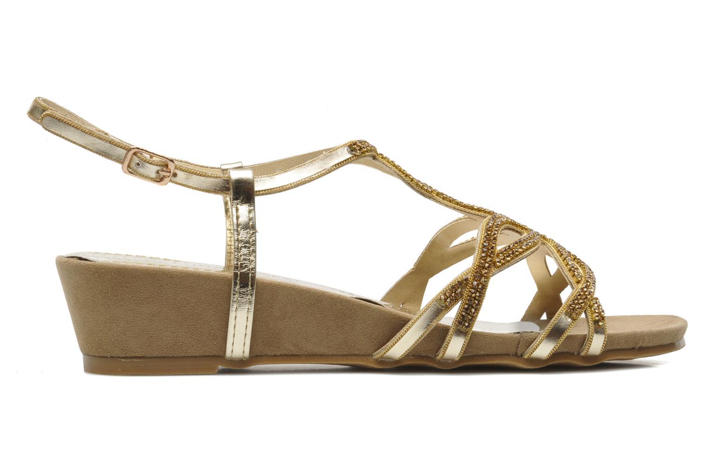 Sandales et nu-pieds Latinas Belina Or et bronze vue derrière