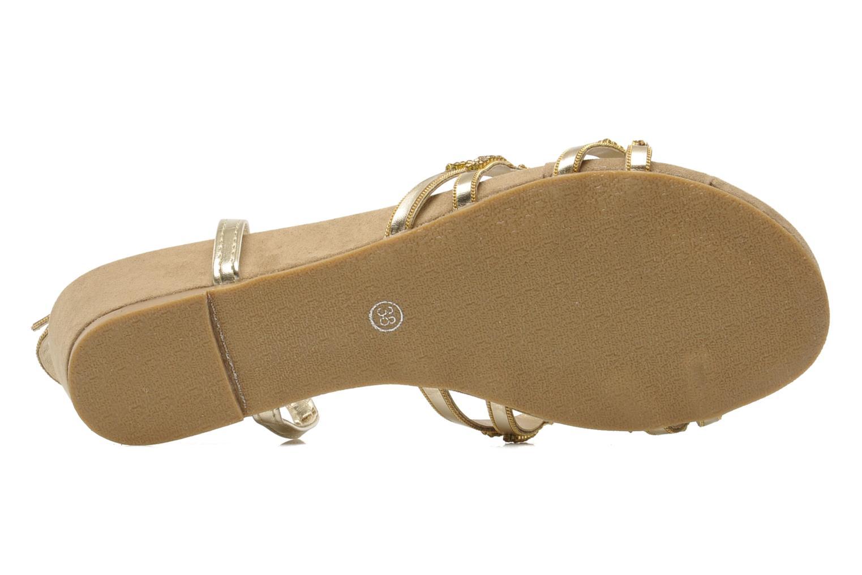 Sandales et nu-pieds Latinas Belina Or et bronze vue haut