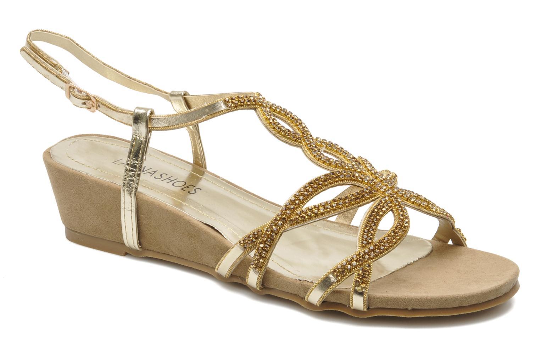Sandales et nu-pieds Latinas Belina Or et bronze vue détail/paire