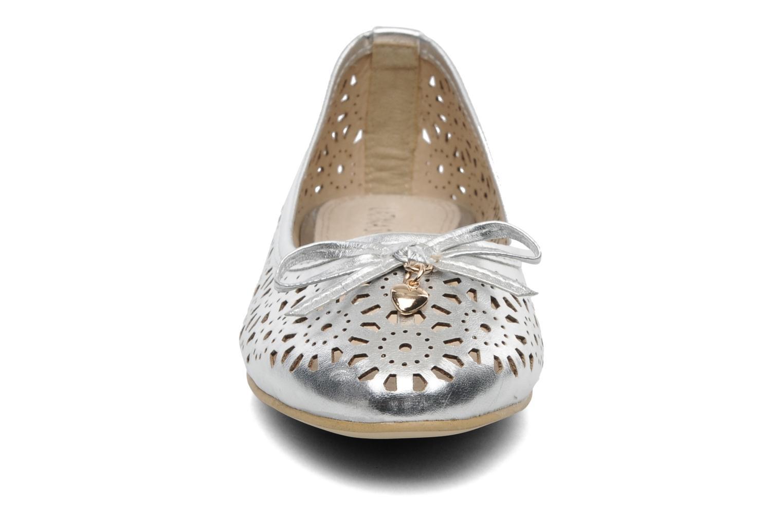 Ballerines Latinas Bila Argent vue portées chaussures