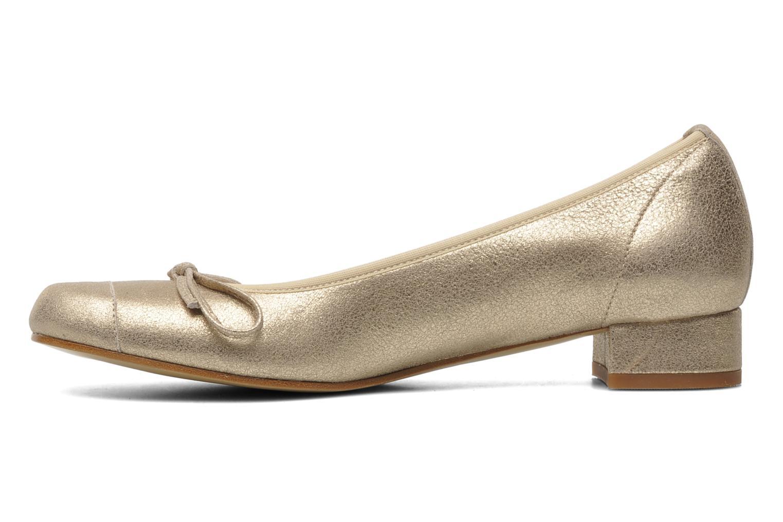 Ballerines Elizabeth Stuart Jouti 416 Or et bronze vue face