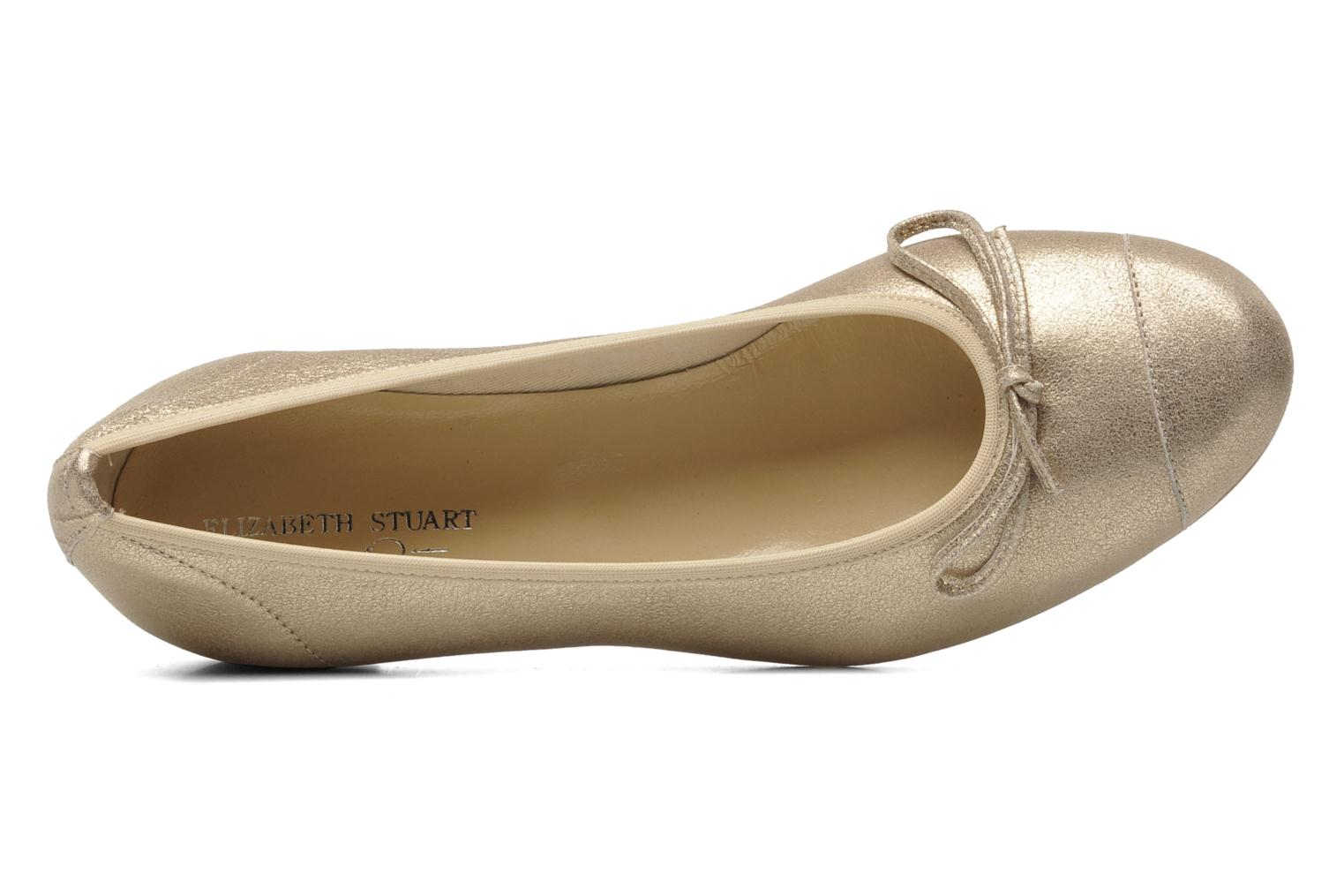 Ballet pumps Elizabeth Stuart Jouti 416 Bronze and Gold view from the left