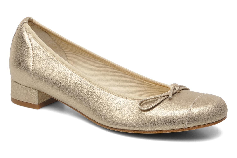 Ballerines Elizabeth Stuart Jouti 416 Or et bronze vue détail/paire