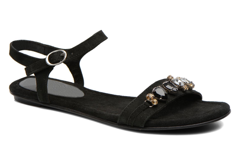 Sandals Elizabeth Stuart Planta 606 Black detailed view/ Pair view