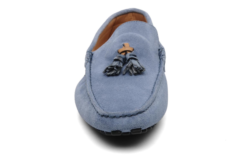Slipper Santoni Saint Tropez 13033 blau schuhe getragen