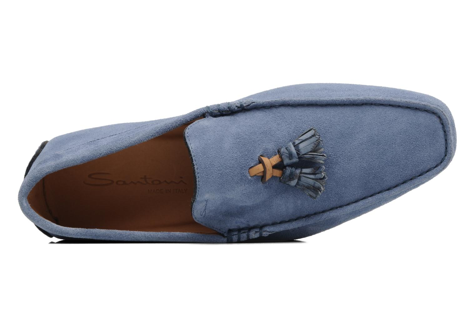 Mocassins Santoni Saint Tropez 13033 Blauw links