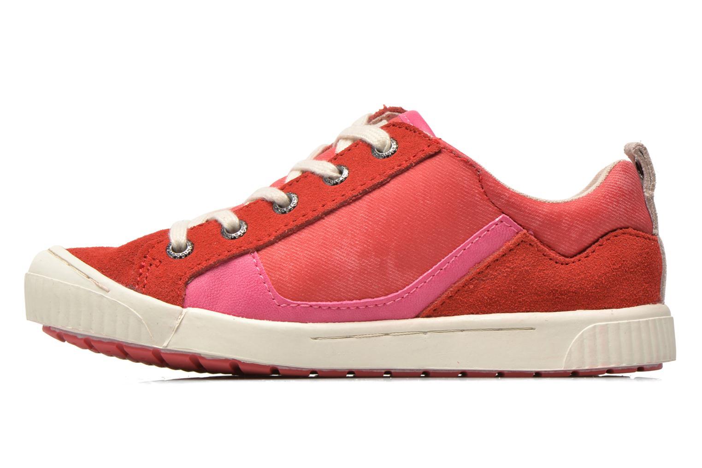 Sneaker Kickers Zigzaguer rosa ansicht von vorne