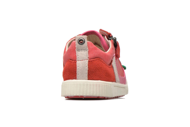 Sneaker Kickers Zigzaguer rosa ansicht von rechts