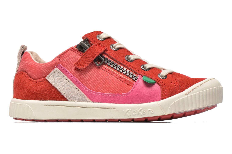 Sneaker Kickers Zigzaguer rosa ansicht von hinten