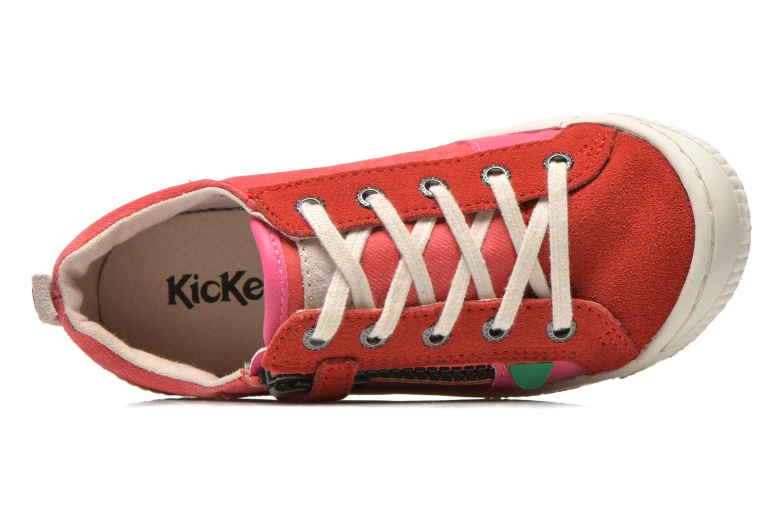 Sneaker Kickers Zigzaguer rosa ansicht von links