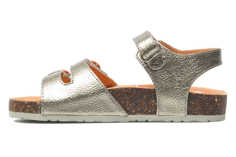 Sandalen Kickers Magipop silber ansicht von vorne