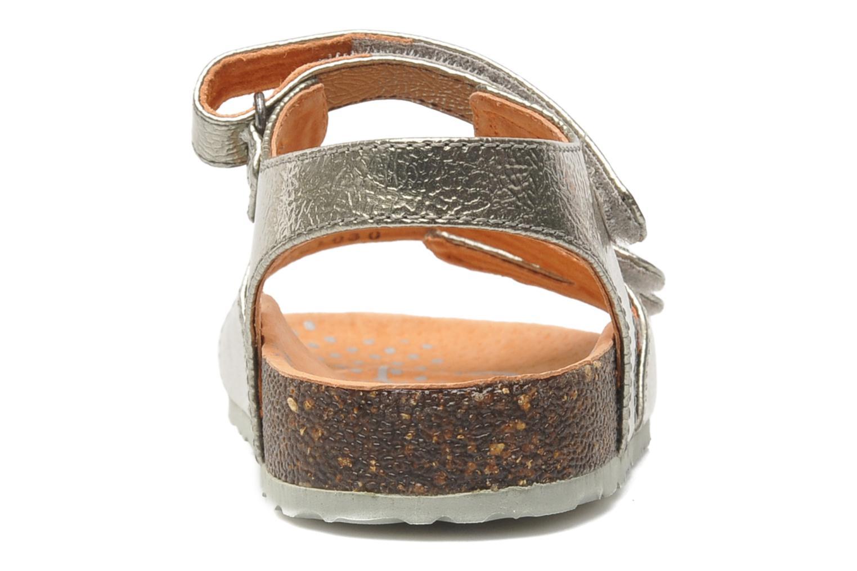 Sandalen Kickers Magipop silber ansicht von rechts