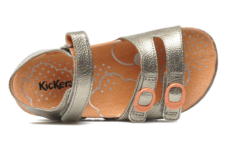 Sandalen Kickers Magipop silber ansicht von links