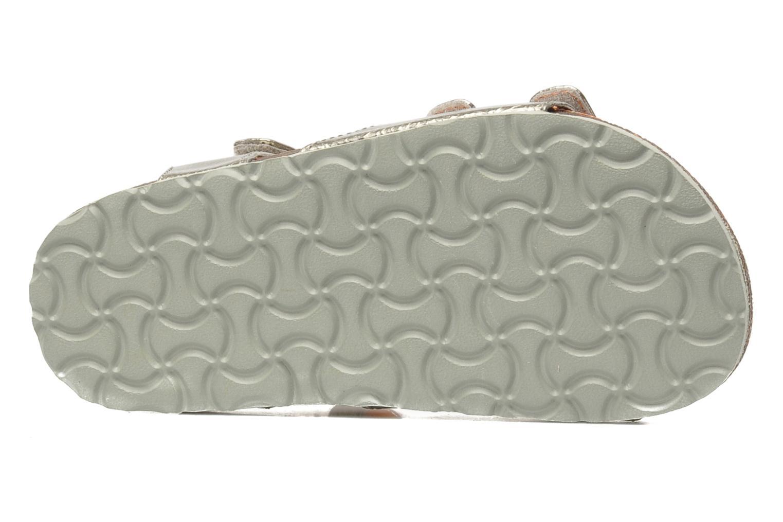 Sandalen Kickers Magipop silber ansicht von oben