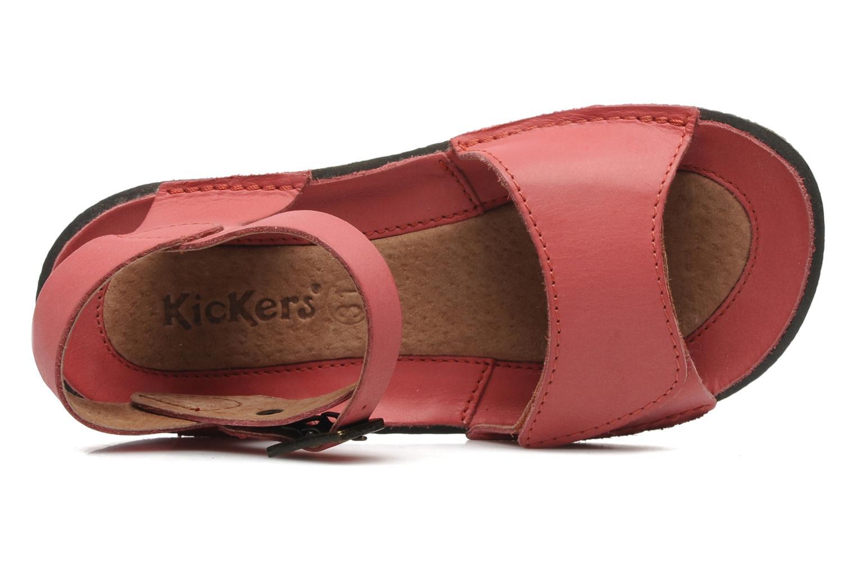 Sandalen Kickers Pepsi Roze links