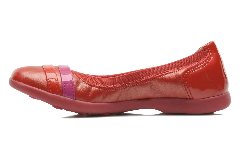 Ballerinas Kickers Amberi rot ansicht von vorne