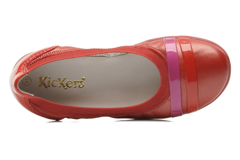 Ballerinas Kickers Amberi rot ansicht von links