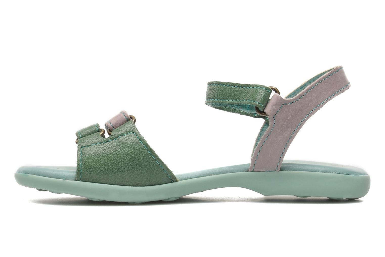 Sandaler Kickers Arcenciel Grön bild från framsidan