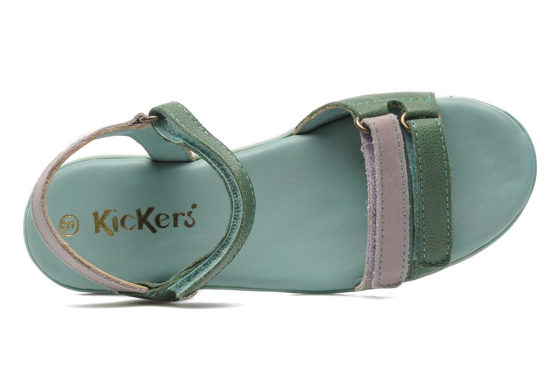 Sandalen Kickers Arcenciel grün ansicht von links