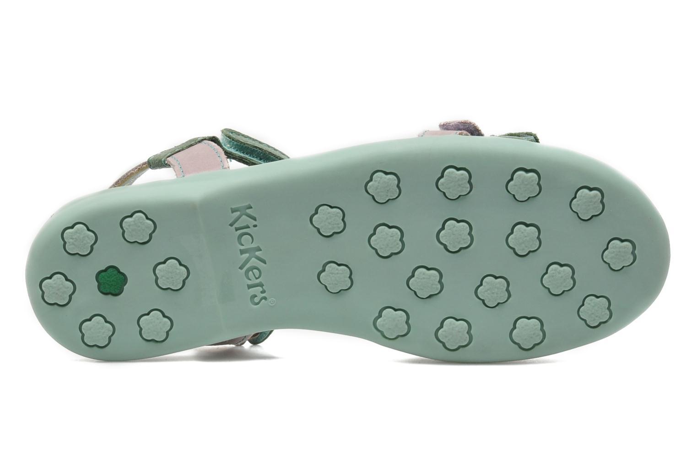 Sandaler Kickers Arcenciel Grön bild från ovan
