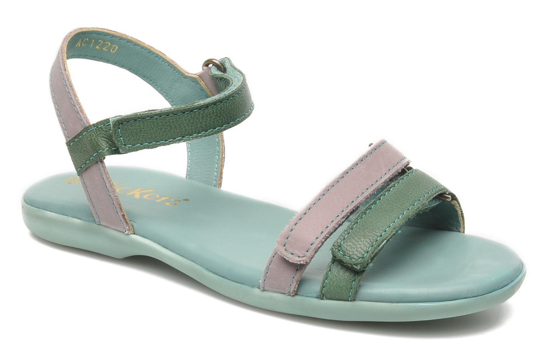 Sandales et nu-pieds Kickers Arcenciel Vert vue détail/paire