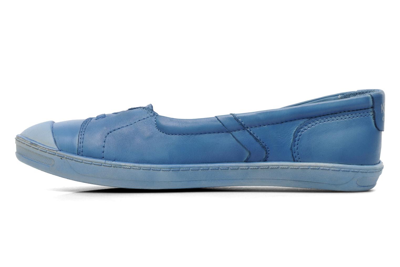 Ballerinas Kickers Karenine blau ansicht von vorne