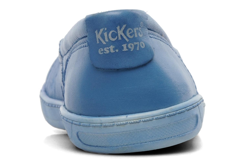 Ballerinas Kickers Karenine blau ansicht von rechts