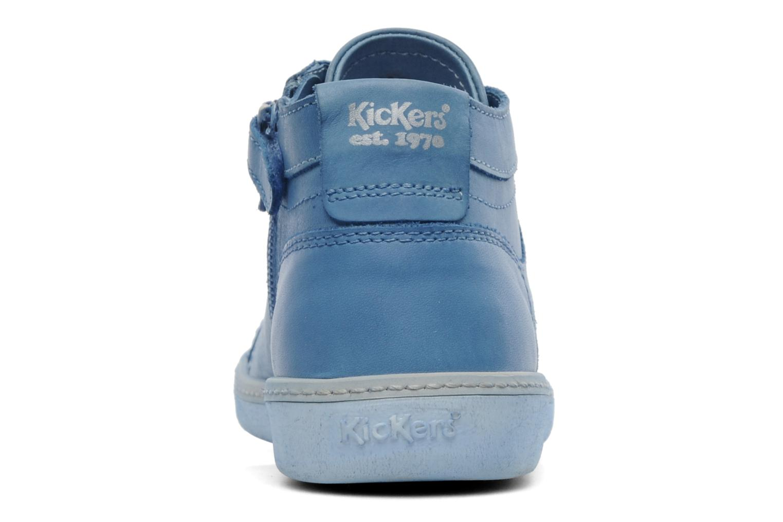 Sneakers Kickers Happier E Blauw rechts
