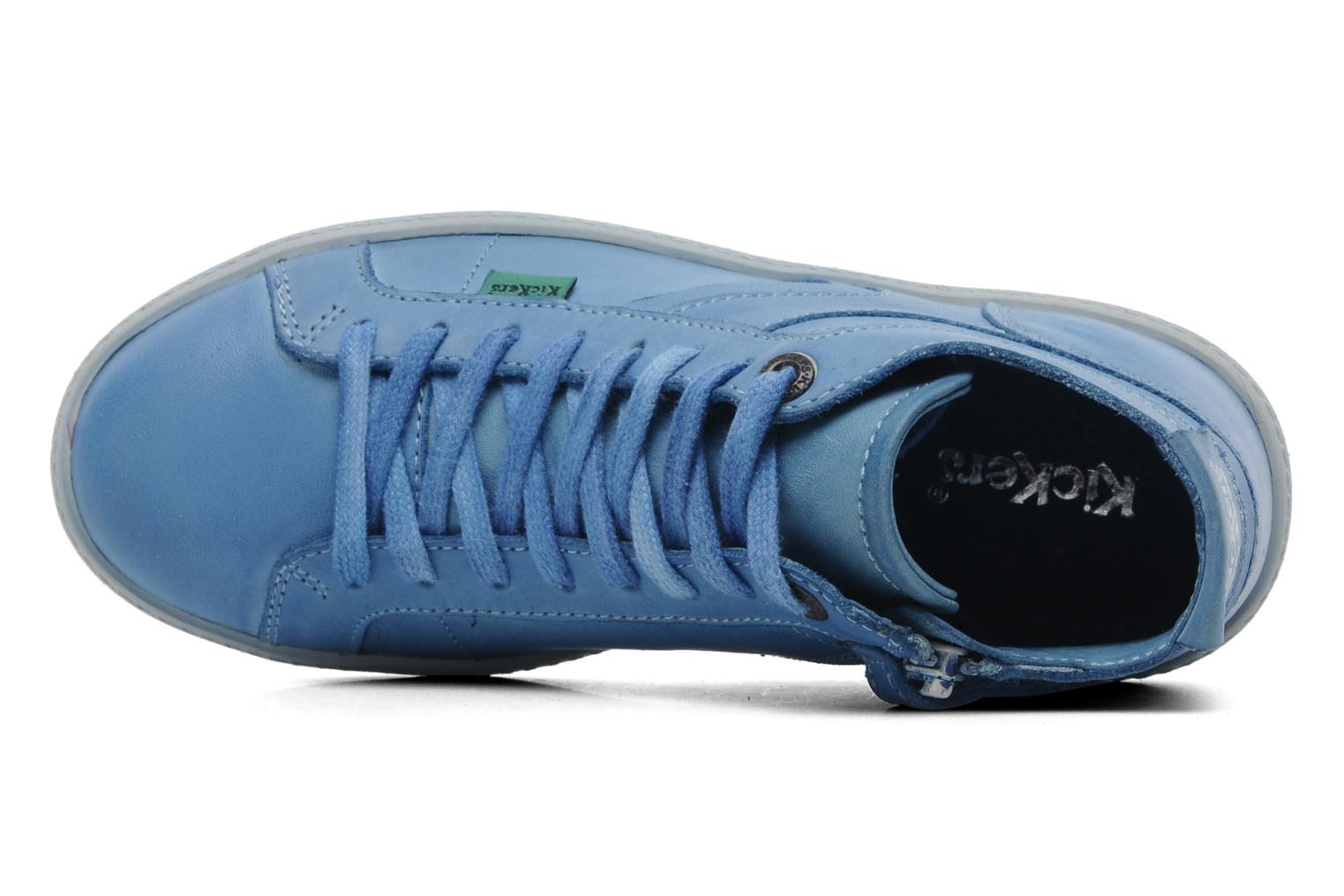 Sneakers Kickers Happier E Blauw links