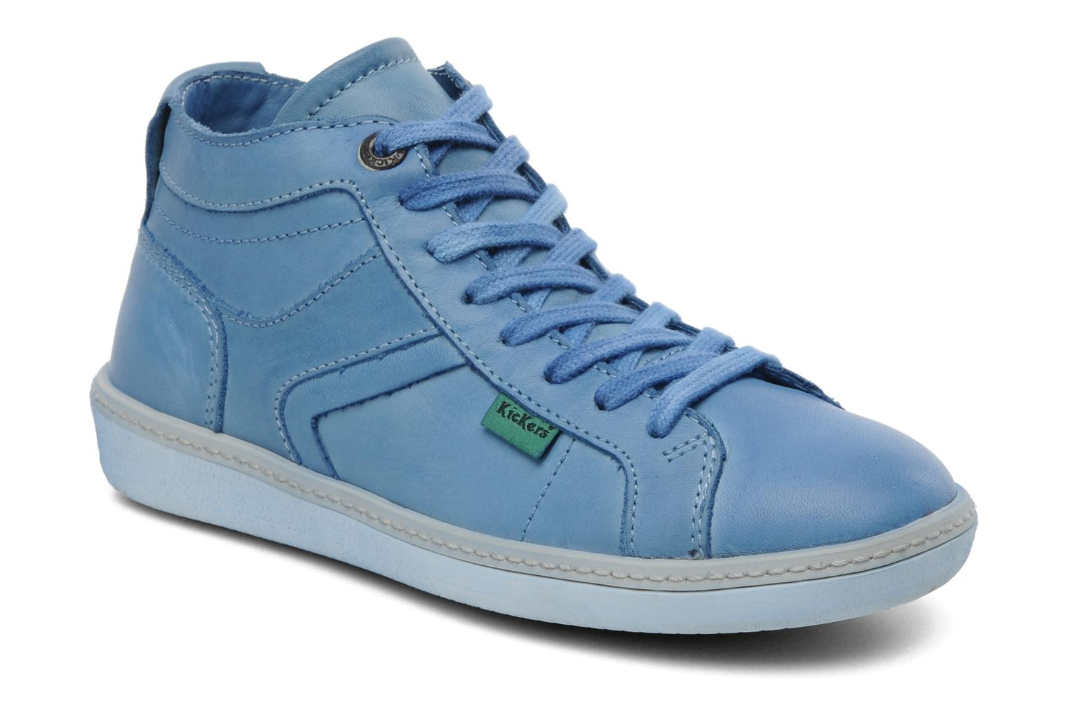 Sneakers Kickers Happier E Blauw detail