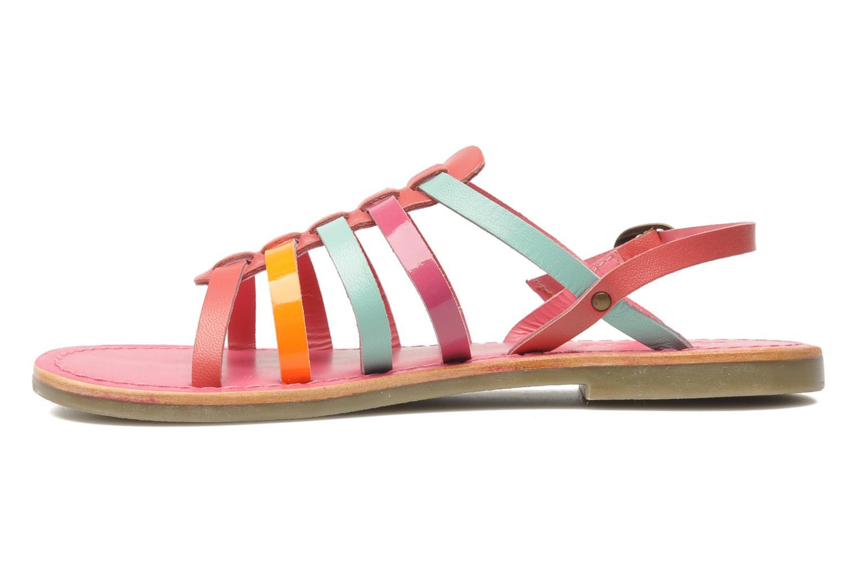 Sandalen Kickers Dixmillion rosa ansicht von vorne