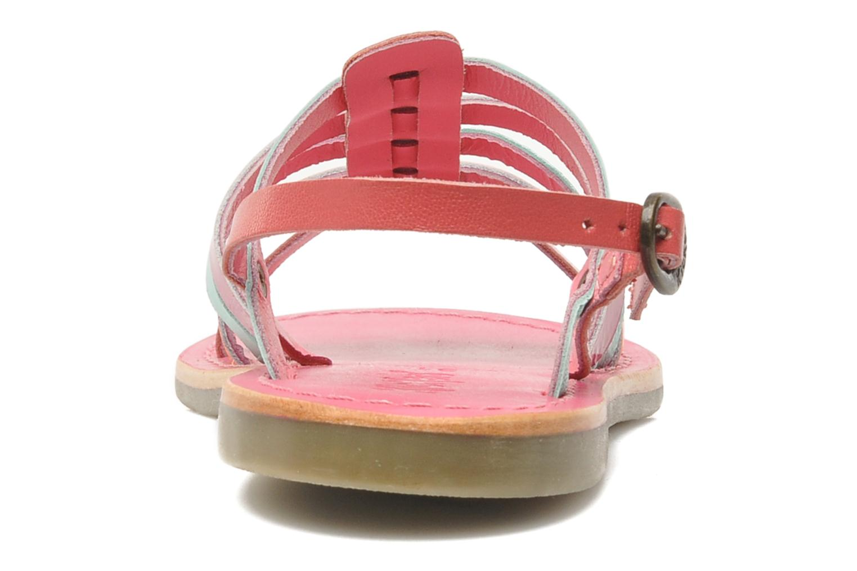 Sandalen Kickers Dixmillion rosa ansicht von rechts