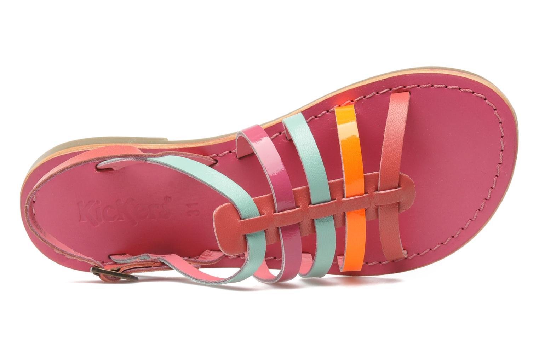 Sandalen Kickers Dixmillion rosa ansicht von links