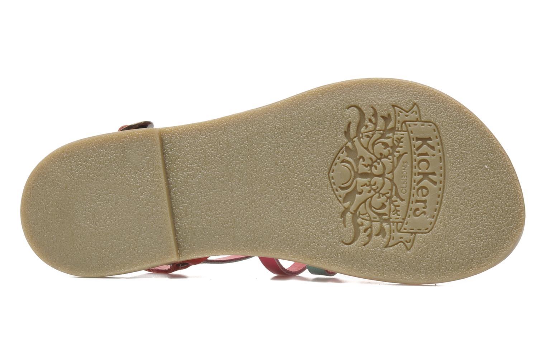 Sandalen Kickers Dixmillion rosa ansicht von oben