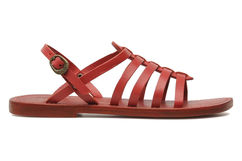 Sandalen Kickers Dixmillion Rood achterkant