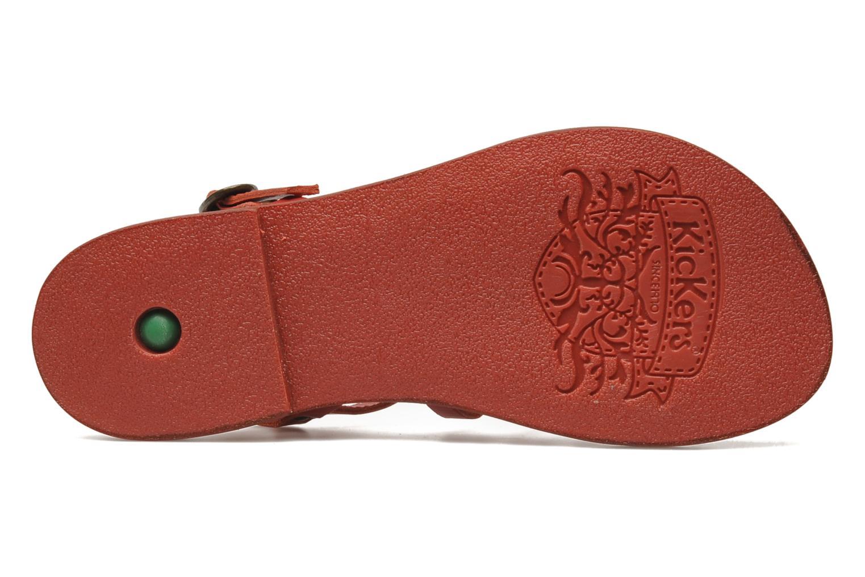 Sandalen Kickers Dixmillion Rood boven