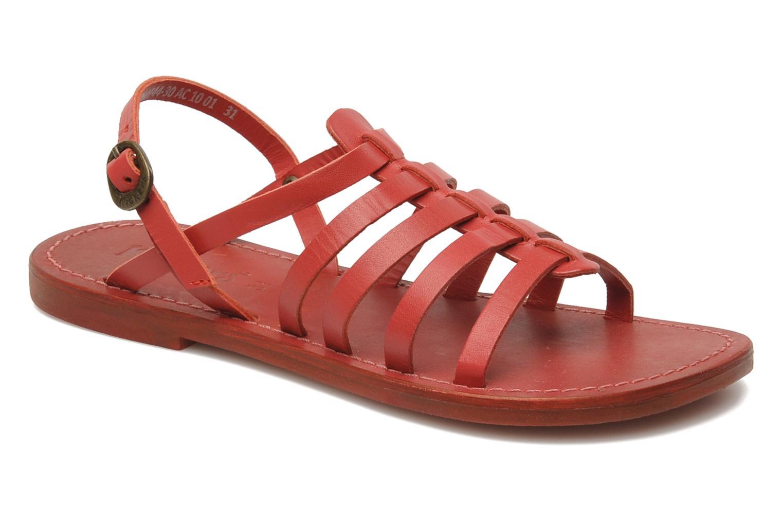 Sandalen Kickers Dixmillion Rood detail
