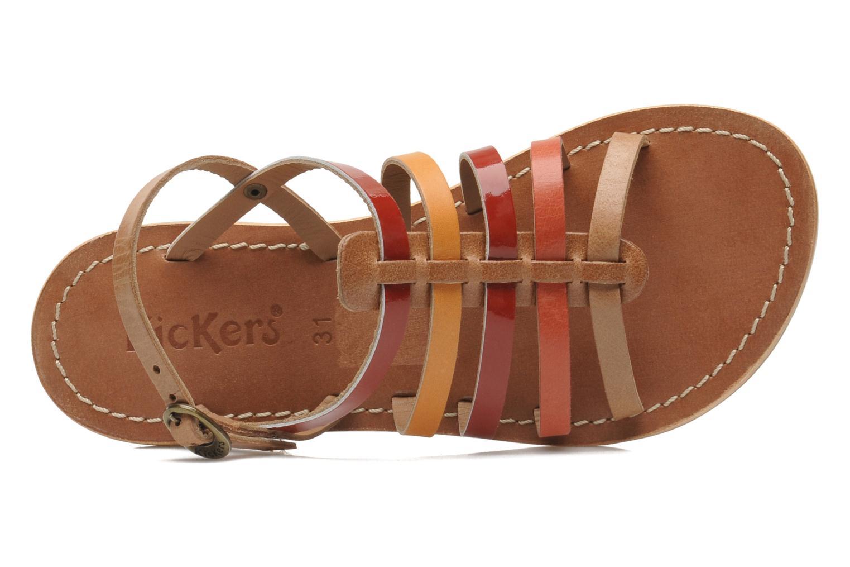 Sandales et nu-pieds Kickers Dixmillion Multicolore vue gauche