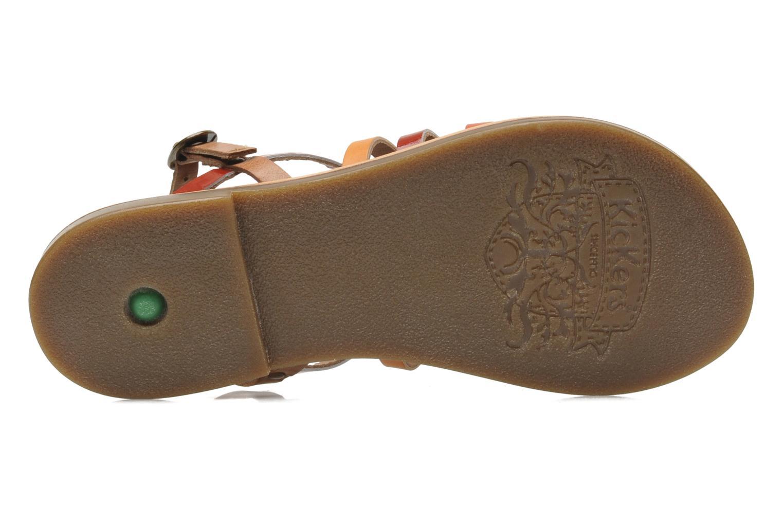 Sandales et nu-pieds Kickers Dixmillion Multicolore vue haut