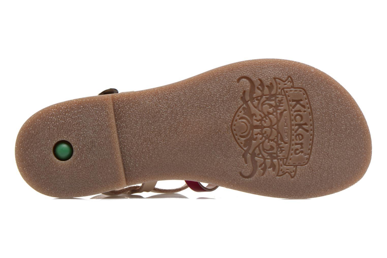 Sandales et nu-pieds Kickers Dixmillion Rose vue haut