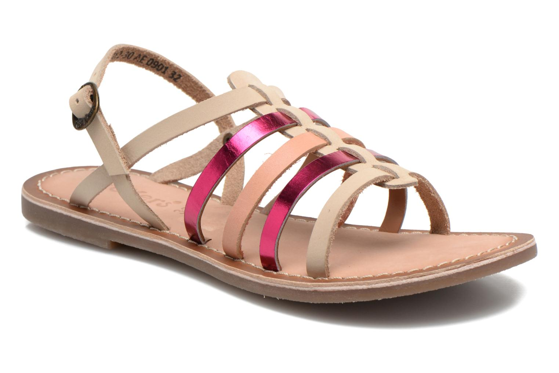 Sandales et nu-pieds Kickers Dixmillion Rose vue détail/paire