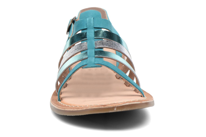 Sandales et nu-pieds Kickers Dixmillion Vert vue portées chaussures