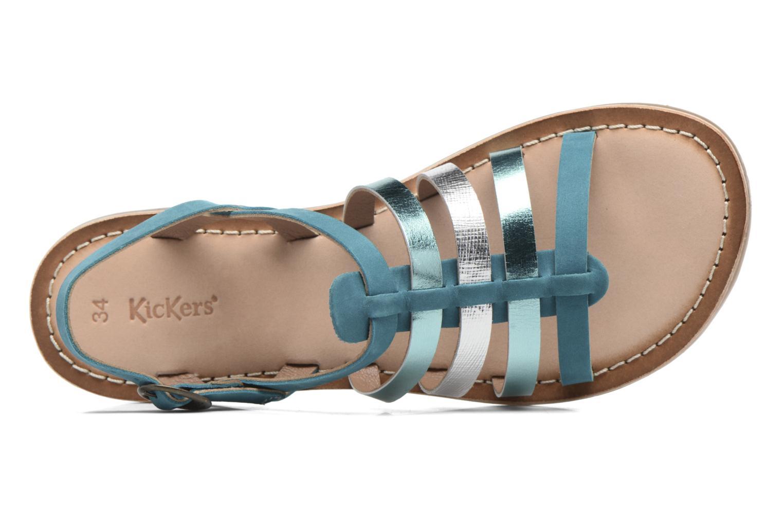 Sandales et nu-pieds Kickers Dixmillion Vert vue gauche