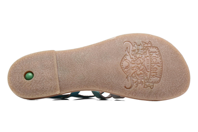Sandales et nu-pieds Kickers Dixmillion Vert vue haut