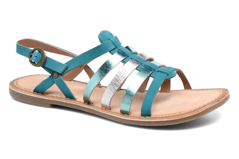 Sandales et nu-pieds Kickers Dixmillion Vert vue détail/paire