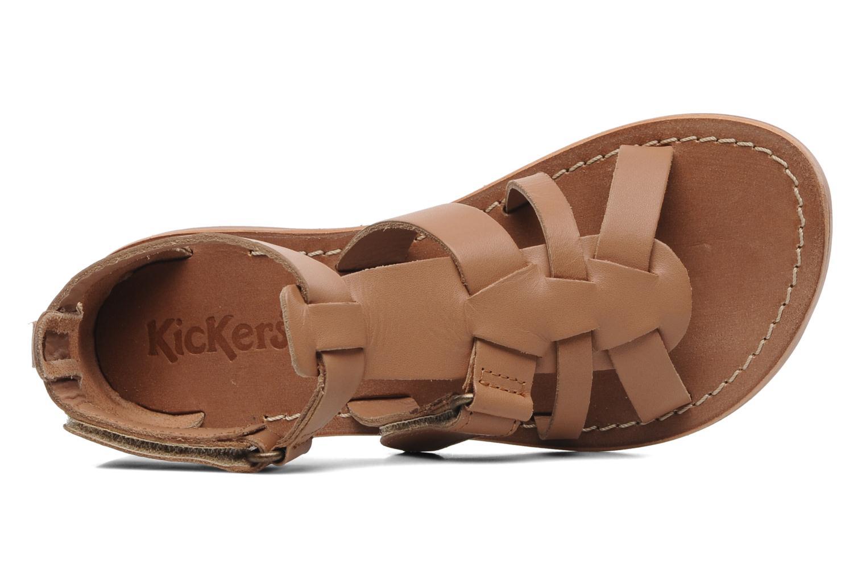 Sandalen Kickers Djack E Bruin links